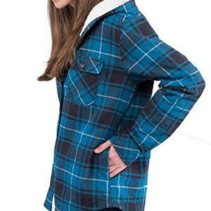 Boston Traders Women's Plush Lined Shirt Jacket